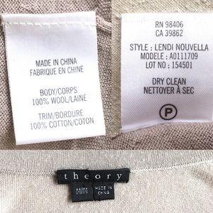 Theory Sweaters - Theory Cardigan Women's Medium, Tan, Brass Accents